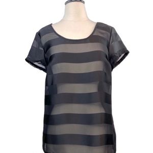 Old navy striped sheer and cotton shirt